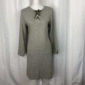 Peach Camo Green Heathered Sweatshirt Dress Size L